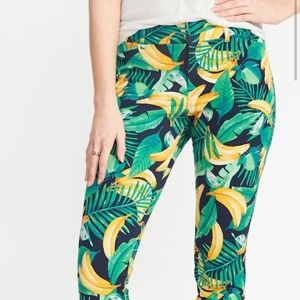 Limited print old navy pixie pants bananas hot